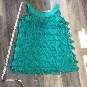 H&M flapper mini dress jewel green
